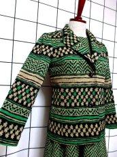 画像4: ジャケット&ワンピース 70年代 グリーン レトロセットアップ 昭和レトロ 国産古着 【6692】 (4)