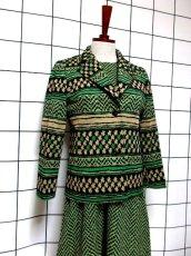 画像7: ジャケット&ワンピース 70年代 グリーン レトロセットアップ 昭和レトロ 国産古着 【6692】 (7)