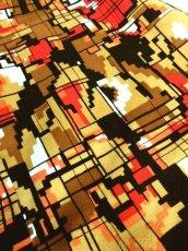 画像16: 70年代 スカーフ柄 マルチカラー レトロ レディース 長袖 昭和レトロ 国産古着 レトロワンピース 【6701】 (16)
