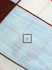 画像13: レトロ ポップ 花柄 ライトブルー 爽やか ヨーロッパ古着 長袖 シャツ ヴィンテージブラウス【6723】 (13)