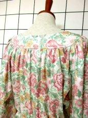画像6: 総花柄 クラシカル ウエストゴム レトロ 長袖 ヨーロッパ古着 ヴィンテージドレス【6718】 (6)