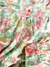 画像16: 総花柄 クラシカル ウエストゴム レトロ 長袖 ヨーロッパ古着 ヴィンテージドレス【6718】 (16)