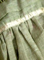 画像14: 花刺繍 グリーン リボンテープ コットン レトロ ヨーロッパ古着 ヴィンテージサーキュラースカート【6731】 (14)