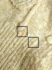画像15: アイボリー お花モコモコ編み 長袖 昭和レトロ 国産古着 ニットカーディガン【6752】 (15)