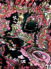 画像15: ペイズリー ボウタイ付 長袖 昭和レトロ 国産古着 ヴィンテージワンピース【6762】 (15)