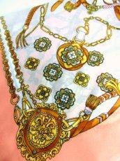 画像7: レトロアンティーク ヴィンテージスカーフ  オリエンタル調 ピンク【6770】 (7)