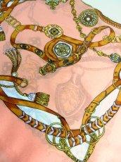 画像8: レトロアンティーク ヴィンテージスカーフ  オリエンタル調 ピンク【6770】 (8)