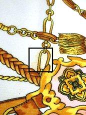 画像12: レトロアンティーク ヴィンテージスカーフ  オリエンタル調 ピンク【6770】 (12)