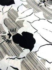 画像15: デンマーク製 アート柄 ドルマン モノトーン ウエストゴム レトロ ヨーロッパ古着 ヴィンテージワンピース【6782】 (15)