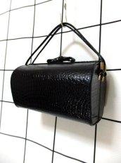 画像6: ブラック 黒 カタチが可愛らしい レディース ヴィンテージ レトロ 鞄 バッグ【6797】 (6)