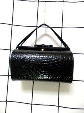 画像8: ブラック 黒 カタチが可愛らしい レディース ヴィンテージ レトロ 鞄 バッグ【6797】 (8)
