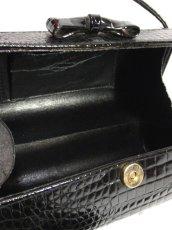 画像5: ブラック 黒 カタチが可愛らしい レディース ヴィンテージ レトロ 鞄 バッグ【6797】 (5)