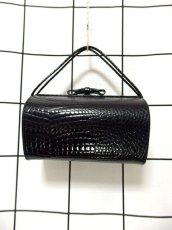 画像2: ブラック 黒 カタチが可愛らしい レディース ヴィンテージ レトロ 鞄 バッグ【6797】 (2)