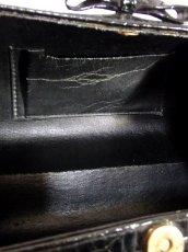 画像13: ブラック 黒 カタチが可愛らしい レディース ヴィンテージ レトロ 鞄 バッグ【6797】 (13)