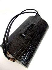 画像3: ブラック 黒 カタチが可愛らしい レディース ヴィンテージ レトロ 鞄 バッグ【6797】 (3)