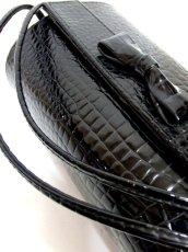 画像11: ブラック 黒 カタチが可愛らしい レディース ヴィンテージ レトロ 鞄 バッグ【6797】 (11)