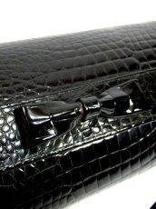 画像4: ブラック 黒 カタチが可愛らしい レディース ヴィンテージ レトロ 鞄 バッグ【6797】 (4)
