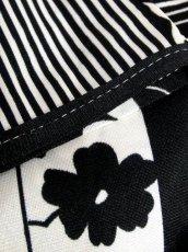 画像17: レトロモダン ホワイト ブラック 花柄 70's 半袖 昭和レトロ 国産古着 レトロワンピース【2245】 (17)