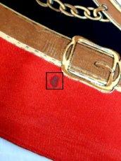 画像18: レトロアンティーク ヴィンテージスカーフ イタリア製 レッド【6843】 (18)