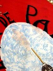 画像16: レトロアンティーク ヴィンテージスカーフ イタリア製 レッド【6843】 (16)