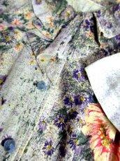 画像15: 70's 花柄 フリル襟 レトロ レディース 半袖 昭和レトロ 国産古着  レトロワンピース【6847】 (15)