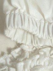 画像13: ショート丈 ホワイト 半袖 ウエストリボン ディアンドル ヴィンテージブラウス ドイツ民族衣装 舞台 演奏会 フォークダンス オクトーバーフェスト【6858】 (13)
