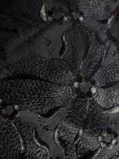 画像14: 花模様刺繍 ブラック 黒 70年代 レトロ 結婚式 パーティー  フォーマル クラシカル ノースリーブ 昭和レトロ  国産古着 ヴィンテージドレス【6855】 (14)