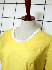 画像8: お花刺繍 レース装飾 フォークロア 半袖 レトロ ヨーロッパ古着 ヴィンテージドレス【5152】 (8)