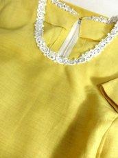 画像14: お花刺繍 レース装飾 フォークロア 半袖 レトロ ヨーロッパ古着 ヴィンテージドレス【5152】 (14)