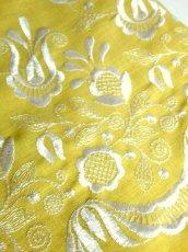 画像15: お花刺繍 レース装飾 フォークロア 半袖 レトロ ヨーロッパ古着 ヴィンテージドレス【5152】 (15)