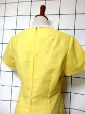 画像6: お花刺繍 レース装飾 フォークロア 半袖 レトロ ヨーロッパ古着 ヴィンテージドレス【5152】 (6)