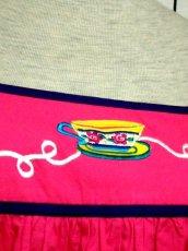 画像9: インド製 コットン ティーカップ刺繍 ピンク ふんわり 半袖 レトロ フォークロア ガーリー ヴィンテージドレス【6007】 (9)