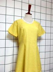 画像7: お花刺繍 レース装飾 フォークロア 半袖 レトロ ヨーロッパ古着 ヴィンテージドレス【5152】 (7)