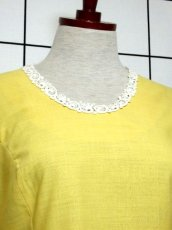 画像3: お花刺繍 レース装飾 フォークロア 半袖 レトロ ヨーロッパ古着 ヴィンテージドレス【5152】 (3)