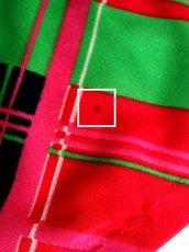画像18: 斜めチェック柄 ビビット配色 ピンク グリーン ネイビー レッド ホワイト レトロ ヨーロッパ古着 ヴィンテージワンピース【6077】 (18)