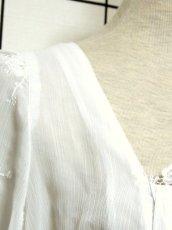 画像10: ショート丈 ホワイト 刺繍 レース 半袖 ディアンドル ヴィンテージブラウス ドイツ民族衣装 舞台 演奏会 フォークダンス オクトーバーフェスト【6860】 (10)