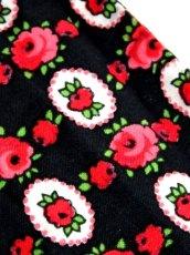 画像15: 70's 花柄 ブラック 半袖 レトロ ガーリー ヨーロッパ古着 ヴィンテージドレス【5961】 (15)