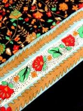 画像17: 70年代 花柄 ブラック ウエストゴム ヴィンテージ  半袖  昭和レトロ 国産古着 レトロワンピース 【6889】 (17)