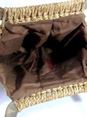画像8: ウッドハンドル ベージュ USA レディース レトロ ヴィンテージ ハンド 鞄 バッグ【6915】 (8)