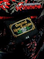 画像11: 花柄 ストライプ ブラック レッド レース クラシカル ディアンドル チロルスカート ドイツ民族衣装 舞台 演劇 演奏会 フォークダンス オクトーバーフェスト 【6936】 (11)