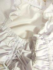 画像12: ショート丈 ホワイト 半袖 フリル ウエストリボン ウエストゴム ディアンドル ヴィンテージブラウス ドイツ民族衣装 舞台 演奏会 フォークダンス オクトーバーフェスト【6932】 (12)