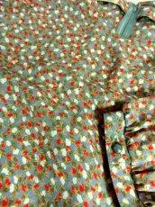 画像17: ミスオンワード 小花柄モチーフ プリーツ レイヤード調デザイン ウエストゴム 半袖 昭和レトロ 国産古着 ヴィンテージワンピース【6942】 (17)