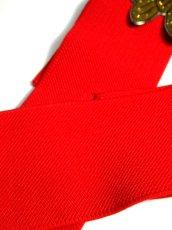 画像7: バタフライ レッド 赤 ゴム レトロアンティーク ヴィンテージ USA 古着 ベルト【6968】 (7)