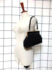 画像2: ビーズ ブラック 結婚式 二次会 パーティースタイル 気品溢れる逸品 レディース レトロアンティーク 鞄 バッグ【6991】 (2)