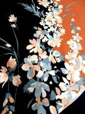 画像17: 70's 花柄 ウエストリボン 衣装やパーティースタイルにも レトロ  ヨーロッパ古着 ヴィンテージロングドレス【7009】 (17)
