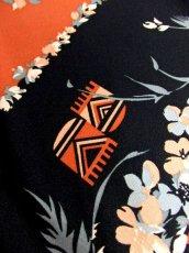 画像18: 70's 花柄 ウエストリボン 衣装やパーティースタイルにも レトロ  ヨーロッパ古着 ヴィンテージロングドレス【7009】 (18)
