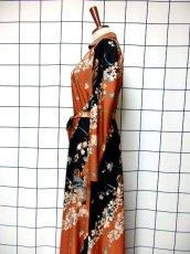 画像7: 70's 花柄 ウエストリボン 衣装やパーティースタイルにも レトロ  ヨーロッパ古着 ヴィンテージロングドレス【7009】 (7)