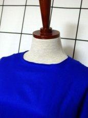 画像7: 70年代 サイケ  ポップ 花柄 ボタニカル ブルー 衣装やパーティースタイルにもおすすめ 長袖 レトロ 衣装にも ヨーロッパ古着 ヴィンテージロングドレス 【7024】 (7)
