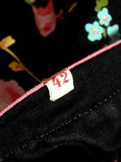 画像18: 花柄 ブラック 黒 袖あり ディアンドル チロルワンピース ドイツ民族衣装 舞台 演奏会 フォークダンス オクトーバーフェスト 【7021】 (18)
