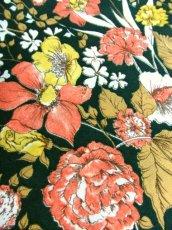 画像11: 花柄 ボタニカル柄 グリーン レトロ ヨーロッパ古着 ヴィンテージスカート【7045】 (11)